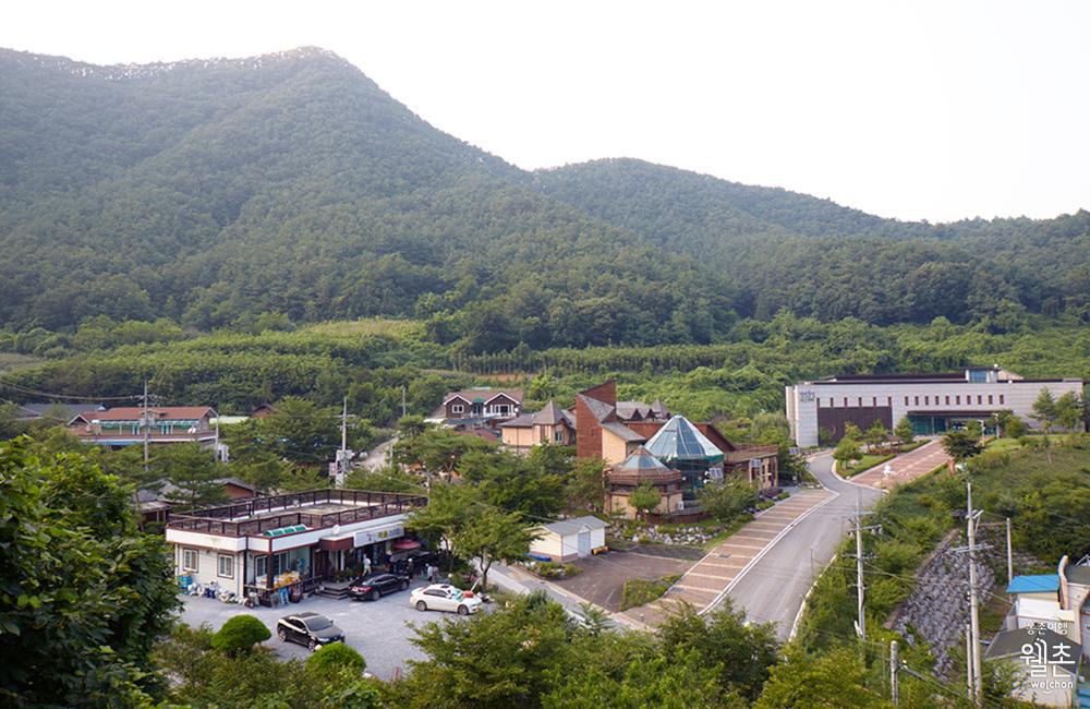 평창 어름치마을의 전경